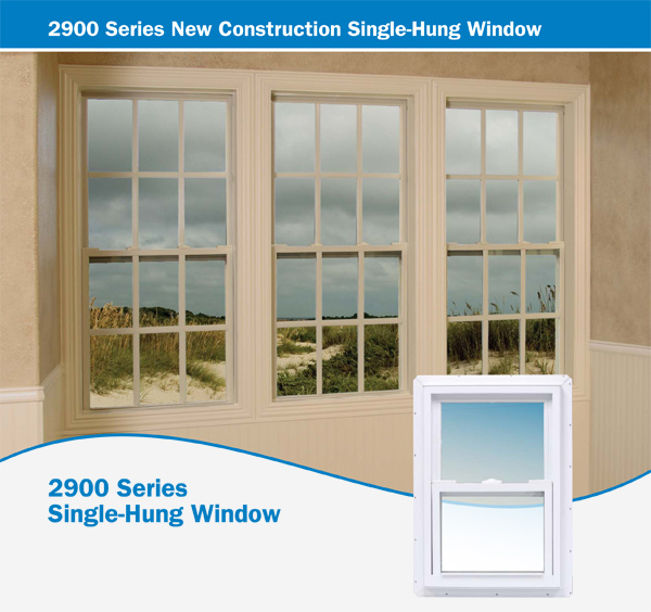 2900 Series New Construction Single-Hung Window
