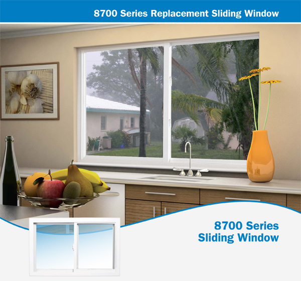 8700 Series Replacement Sliding Window