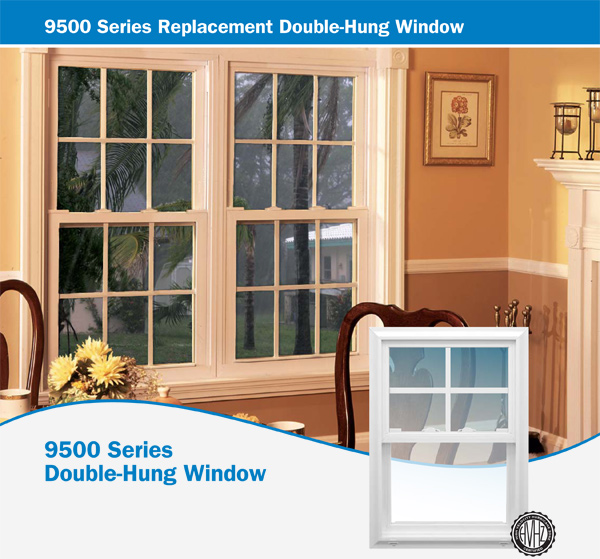 9500 Series Replacement Double-Hung Window
